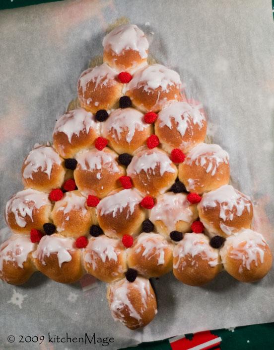 Xmas tree bread
