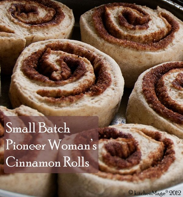 Small Batch Pioneer Womans Cinnamon Rolls Kitchenmage